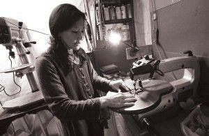 June Sekiguchi scroll cut wood worker represented by ArtXchange Gallery