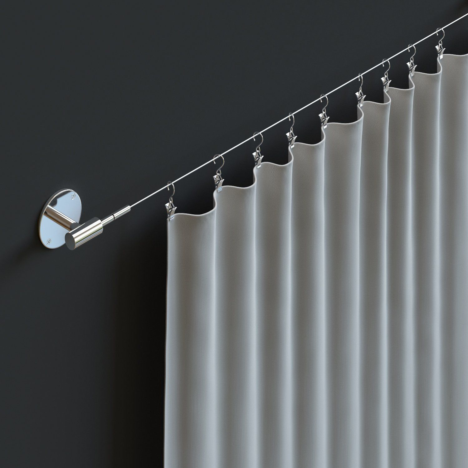 Curtain Bendable Plastic Metal Alloy Rod Flexible Window Curtain Track Poles Ceiling Mounting From Stunning Curtain