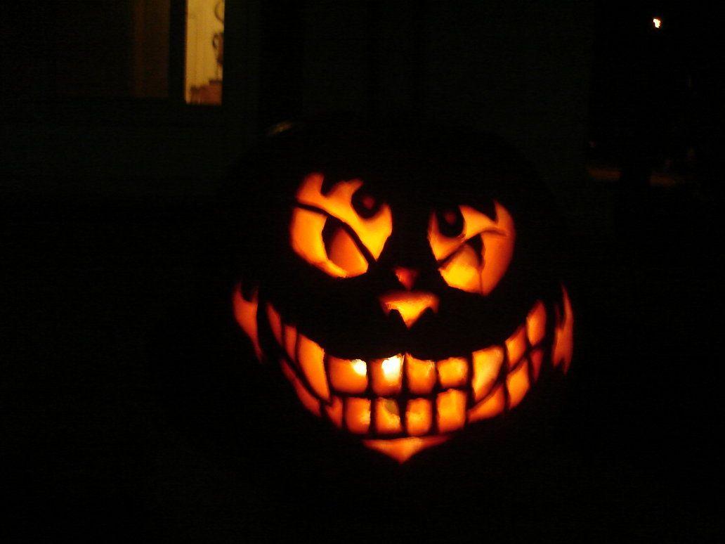Evil Cheshire Cat Pumpkin By Keeper Of Vilya