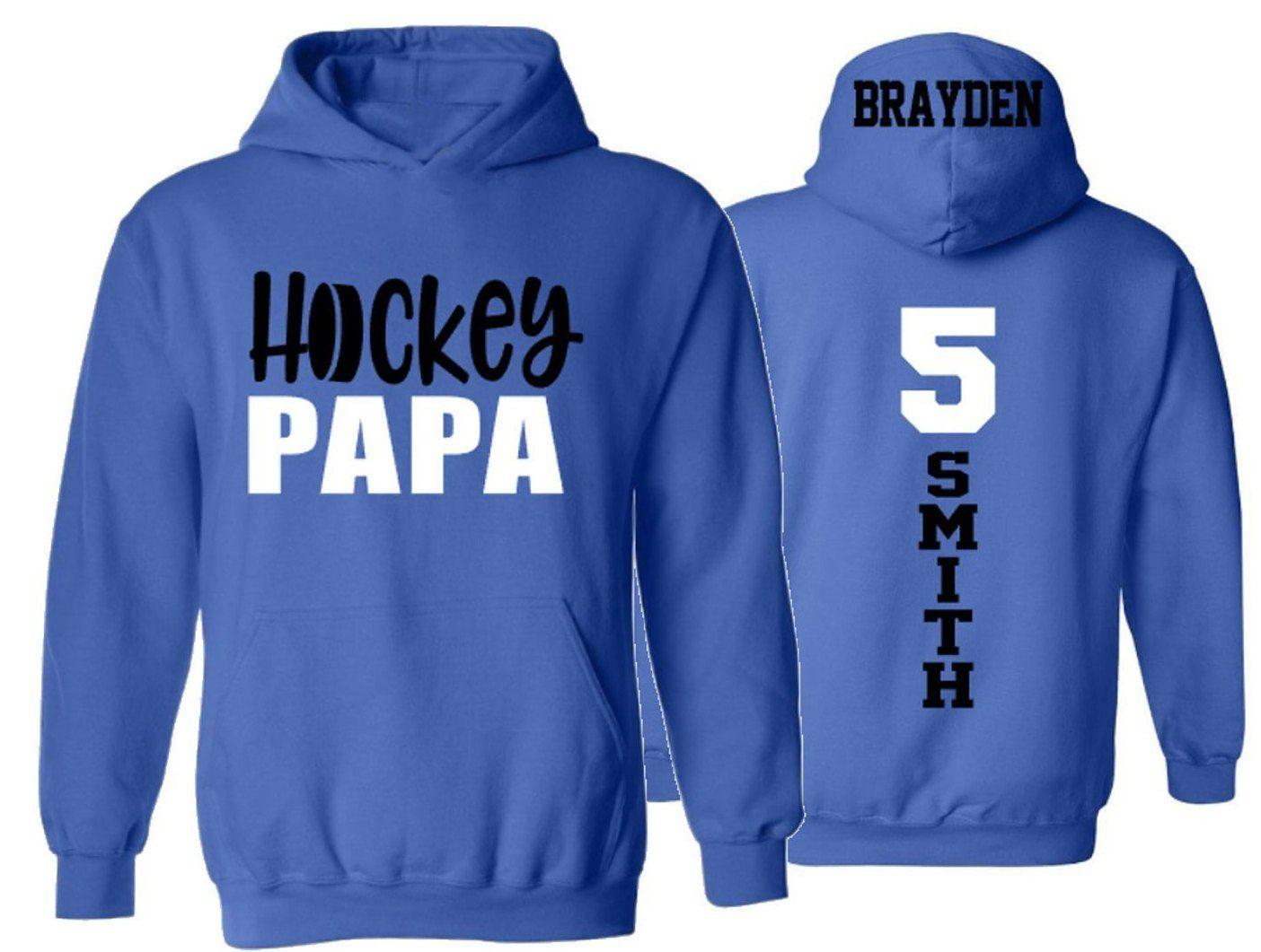 Hockey Hoodie Hockey Grandpa Long Sleeve Pullover Hoodie Etsy Hockey Hoodie Hoodie Customize Hoodies
