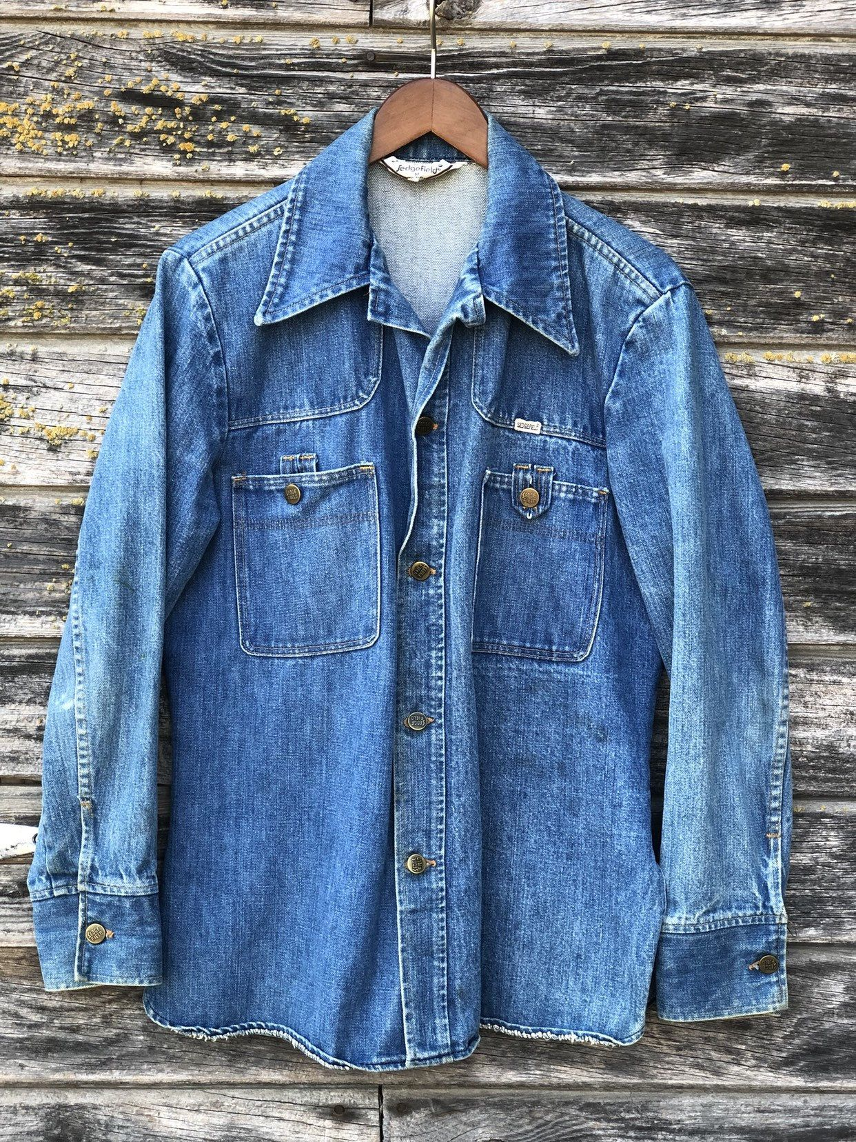70s denim jacket men M Sedgefield DoNothing 1970s biker