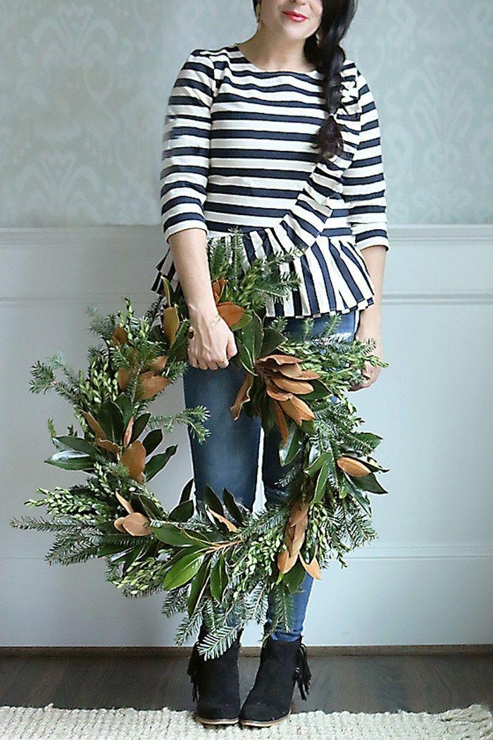 Photo of DIY Fresh Magnolia Mixed Branch Wreath – Darling Darleen | A Lifestyle Design Blog