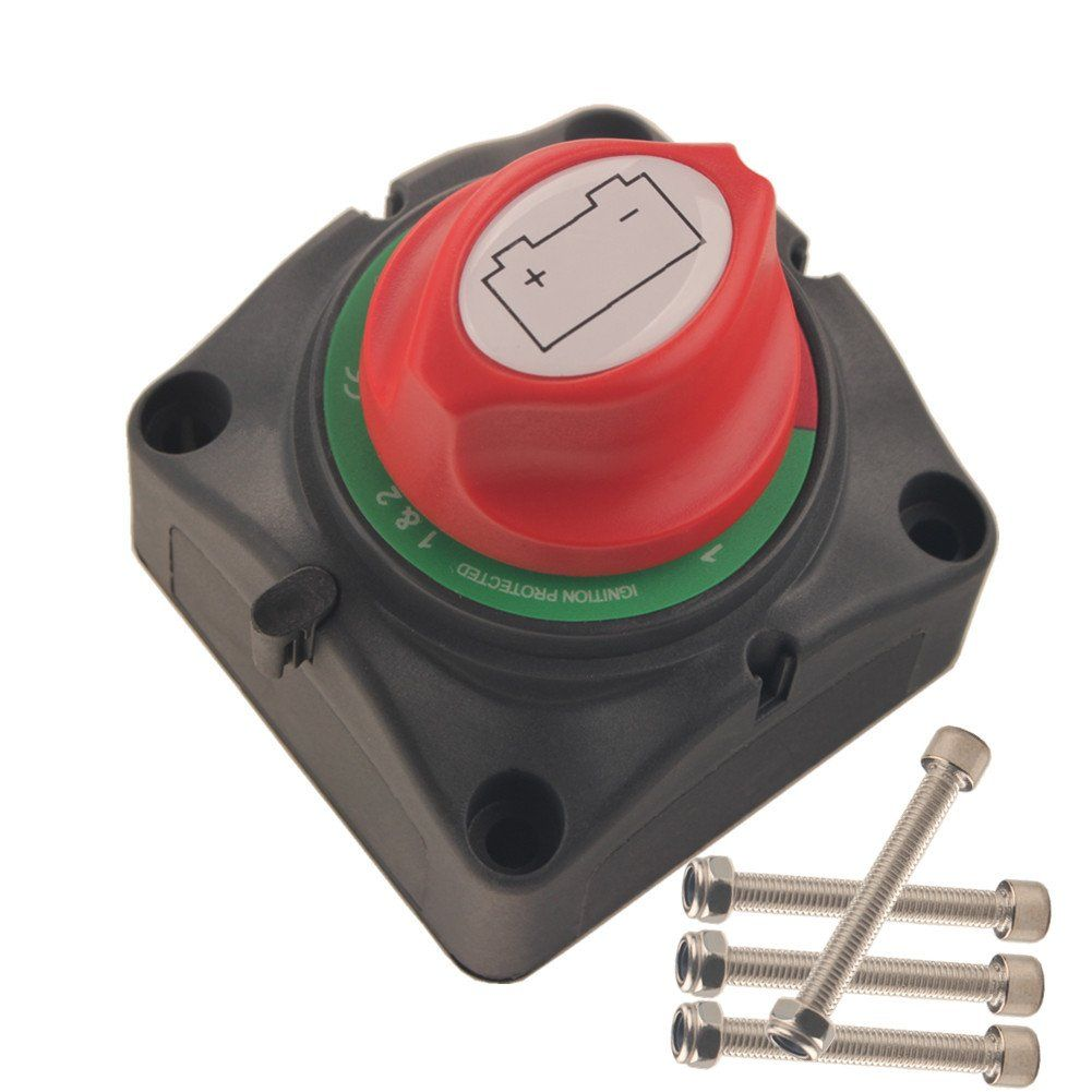 Dewhel Dual Battery Selector Switch 1 2 Both Off Selector For Marine Boat Rv Vehicles You Can Get Additional Details At The Rv Vehicle Marine Boat Vehicles