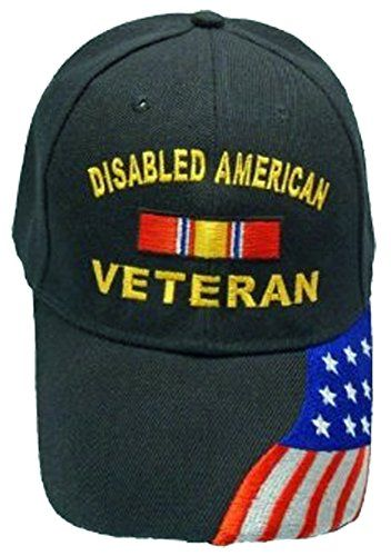 17a9fec1713 Disabled American Veteran BLACK Baseball Cap Military DAV Hat American Flag  GenriCP http