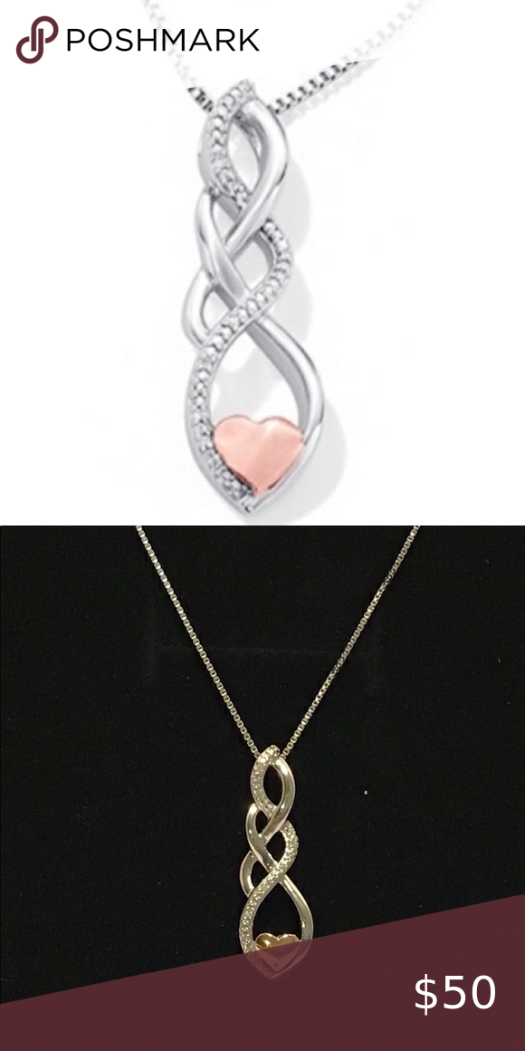 925 Diamond Infinity Heart Necklace In 2020 Womens Jewelry Necklace Heart Necklace Diamond Infinity