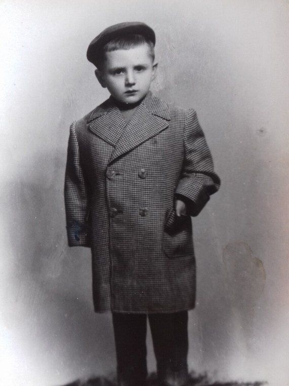 Vintage Photo of Cute Boy from 40s