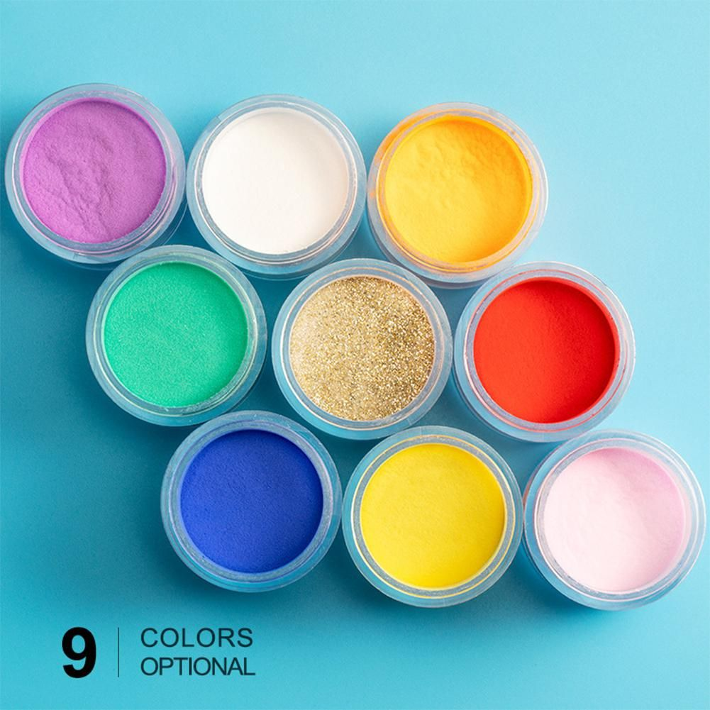 MeterMall 10ml DIY Nail Powder Nail Art Decoration Color Crystal Powder Carved Pollen Crystal Nails Liquid