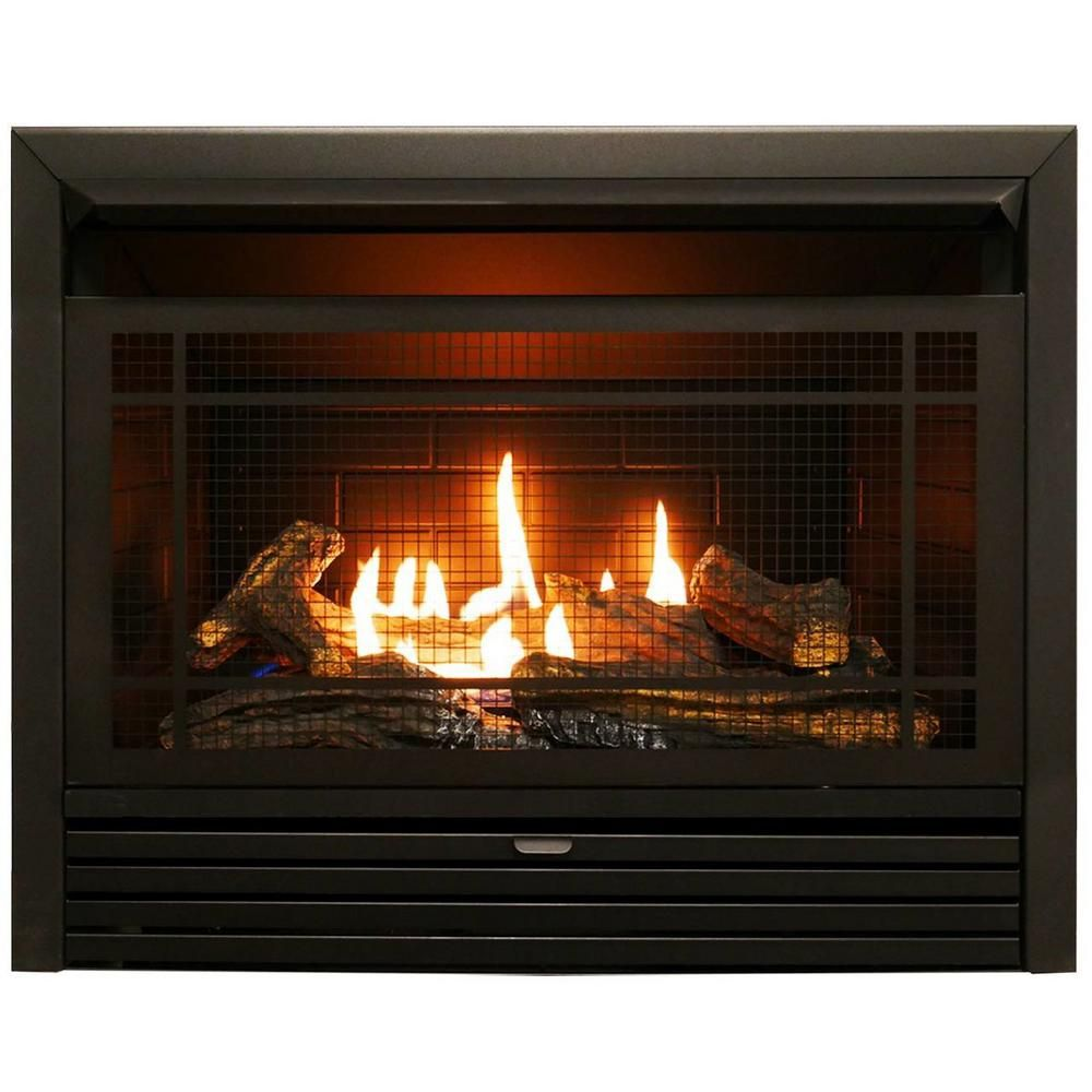Duluth Forge 29 In 26 000 Btu Ventless Dual Fuel Fireplace Insert