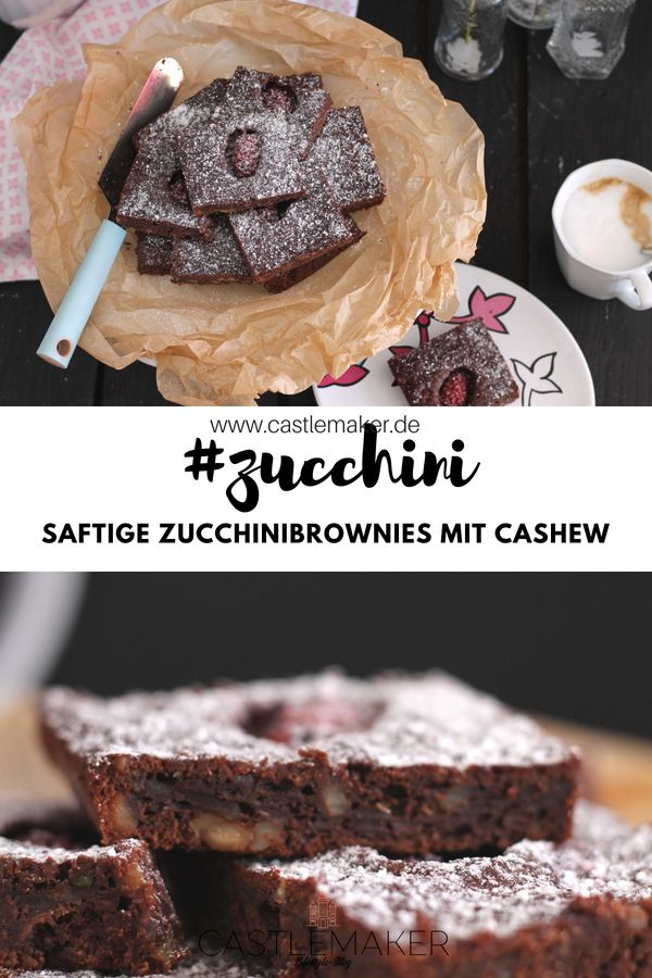REZEPT schokoladige saftige Zucchini-Brownies ...