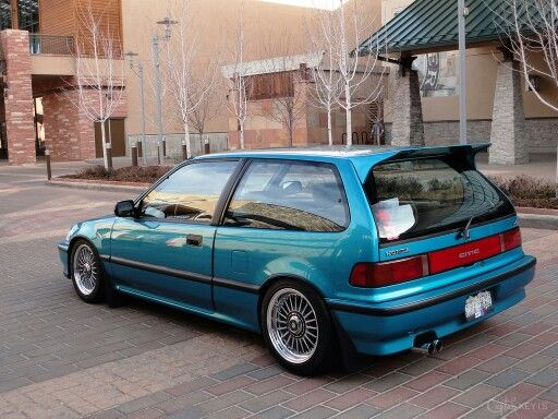 1990 blue ef hatchback honda 90 honda civic ef hatchback