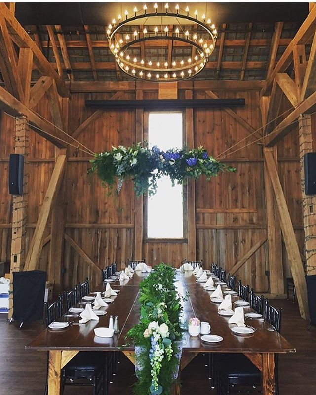 The set table! Thank you @wyndridgefarm for the pic! So in love with this venue…
