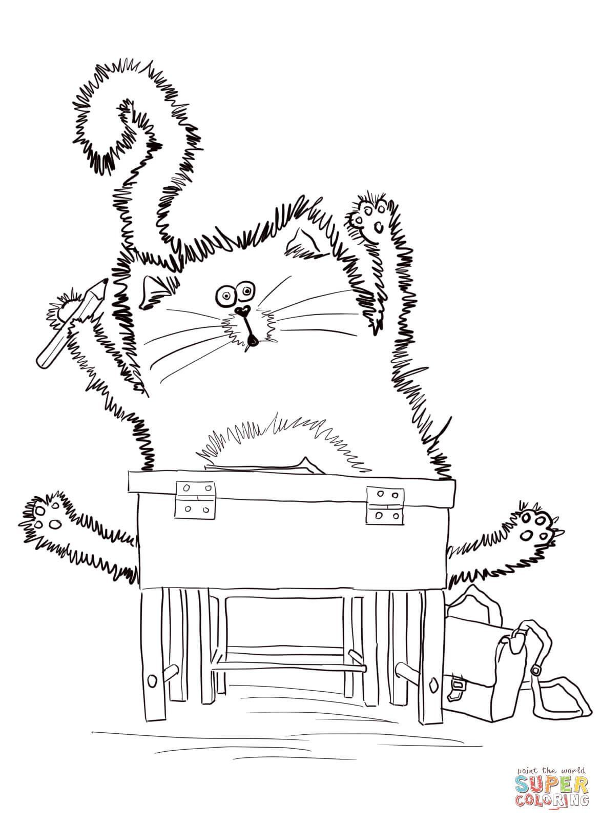 Pete the Cat Coloring Page Best Of Splat the Cat Coloring