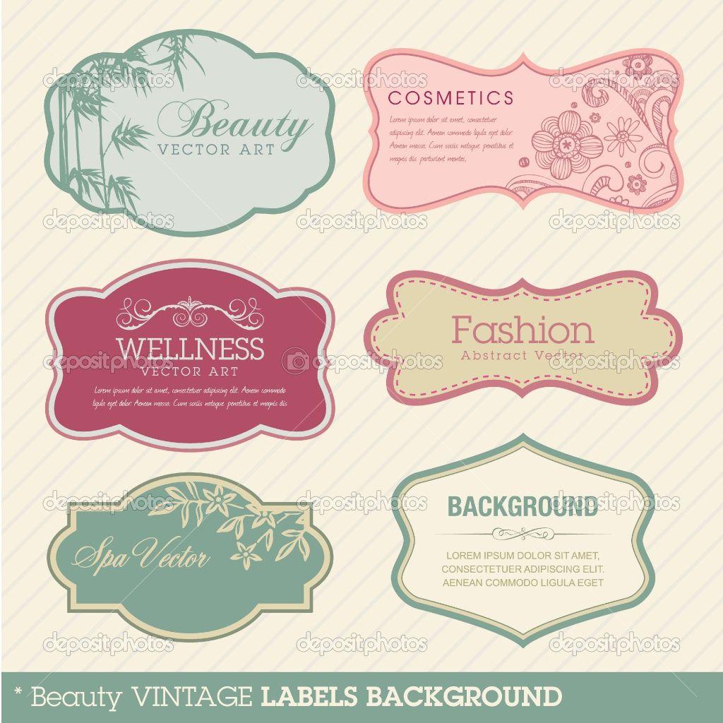 Beauty Vintage Labels Background Vintage Labels Labels Label Templates