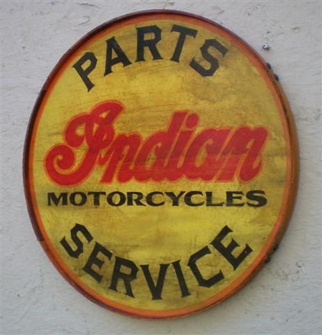 Rusty Round Indian Motorcycles Signsingle by RetroRoadVintageSign, $44.95