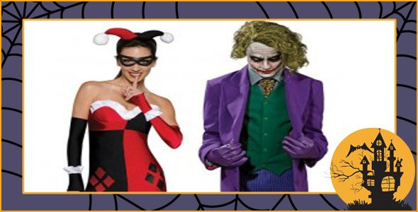 the joker and harley quinn couples costumes are a fun way to make an entrance to - The Joker And Harley Quinn Halloween Costumes