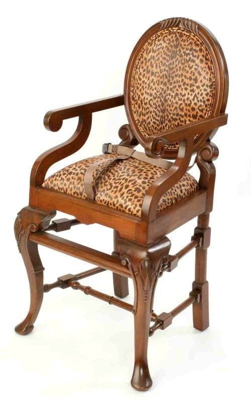 Oval Highchair in Brown Leopard Print