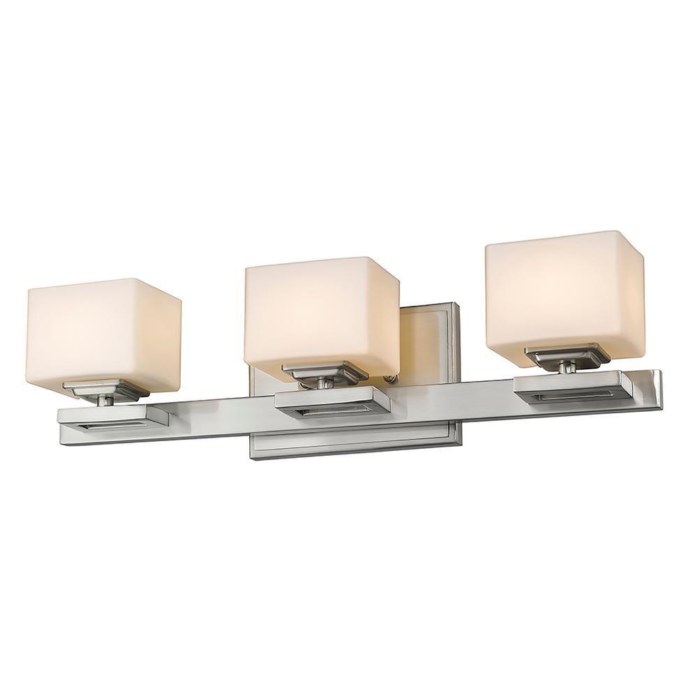 Photo of Filament Design 3-Licht LED-Badleuchte aus gebürstetem Nickel HD-TE068795 – The Home Depot