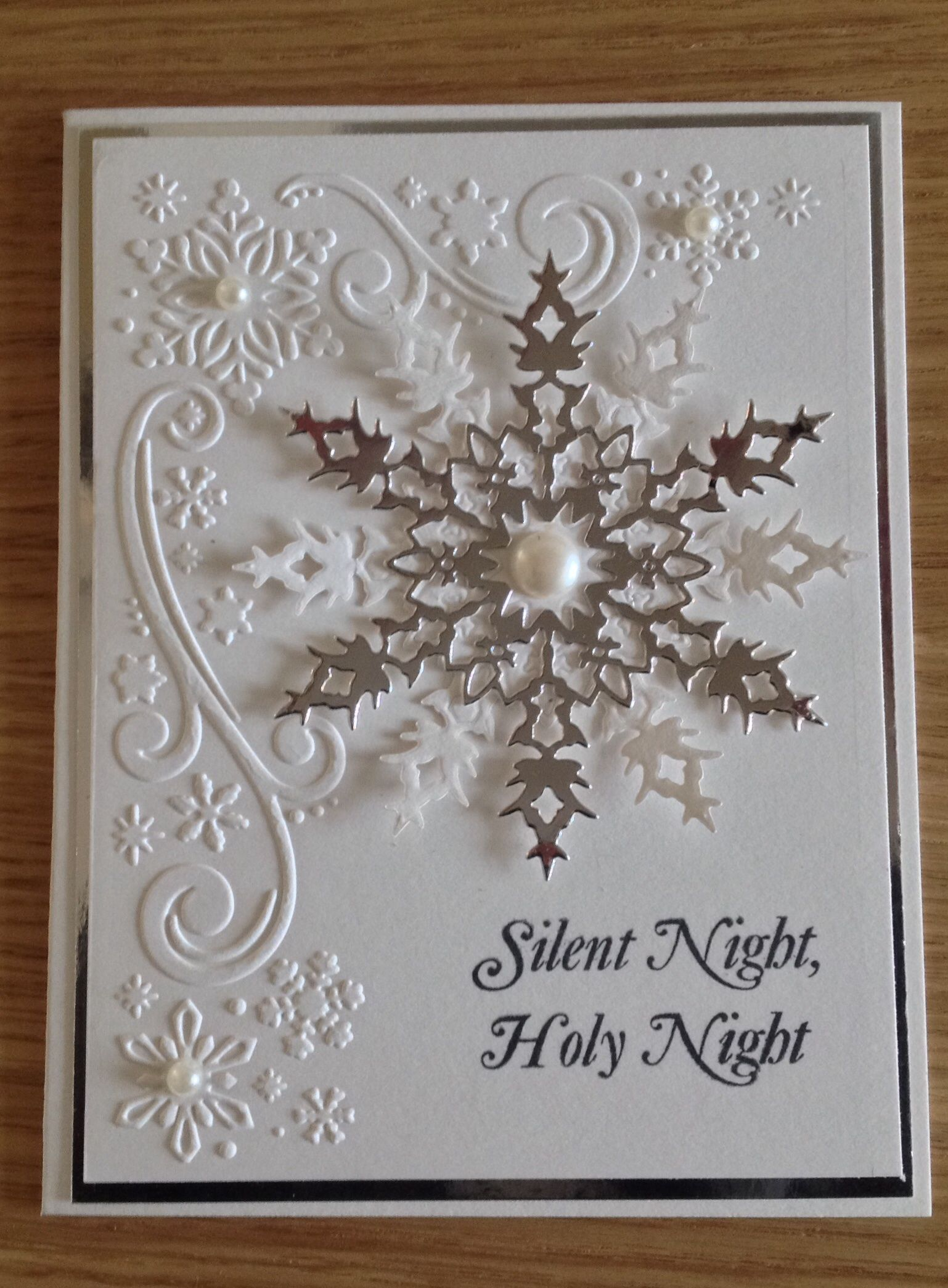 white snowflake card memory box die | Christmas | Pinterest ...
