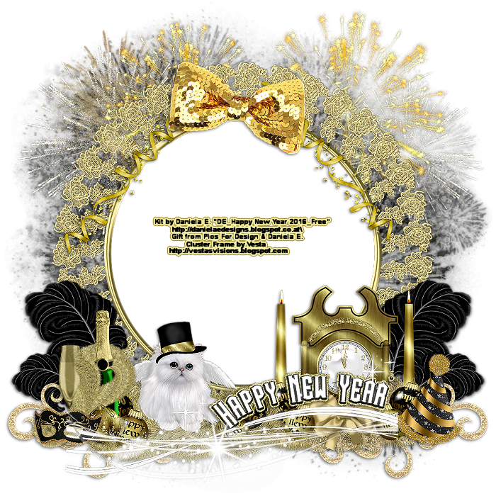 Vesta\'s Visions: New Year\'s Cluster Frame | ftu psp kits-clusters ...