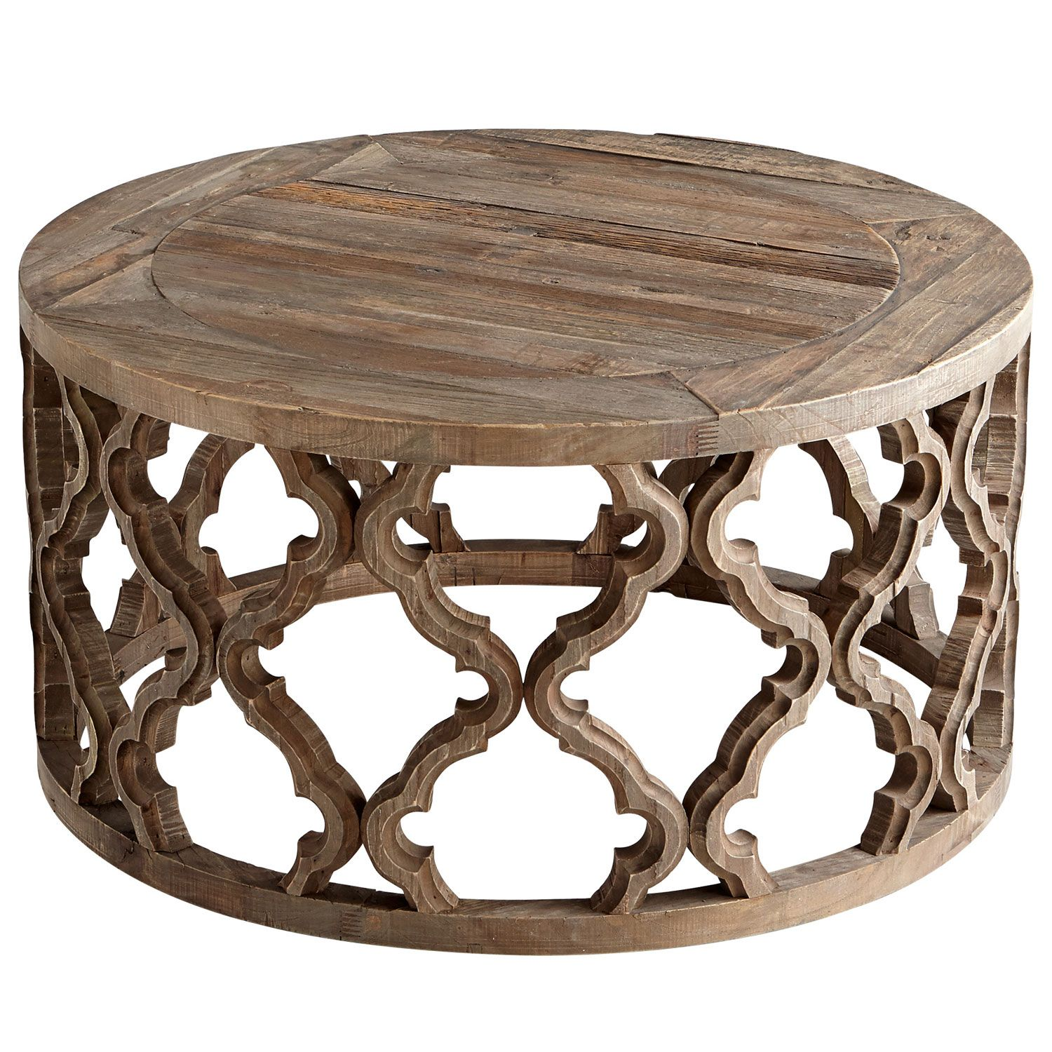 Modern Round Wooden Coffee Table 110: A Modern Furnishing With A Global Vibe, The Sirah Coffee
