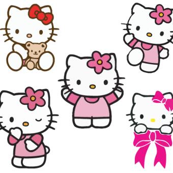 Hello Kitty Vector Free Hello Kitty Printables Hello Kitty Crafts Hello Kitty Birthday