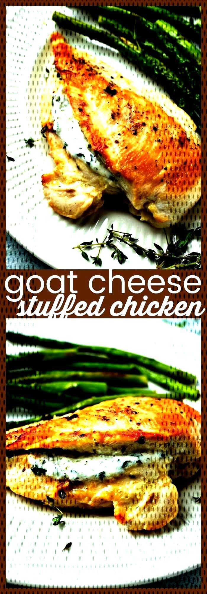 Cheese Stuffed Chicken Goat Cheese Stuffed Chicken – Chicken breasts are stuffed with a garlic he
