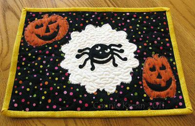 Halloween mug rug made with a Sizzix die cutter