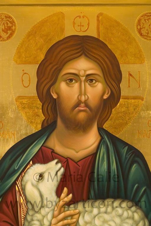Gesù Buon Pastore, particolare, 100X70 cm, Collezione privata