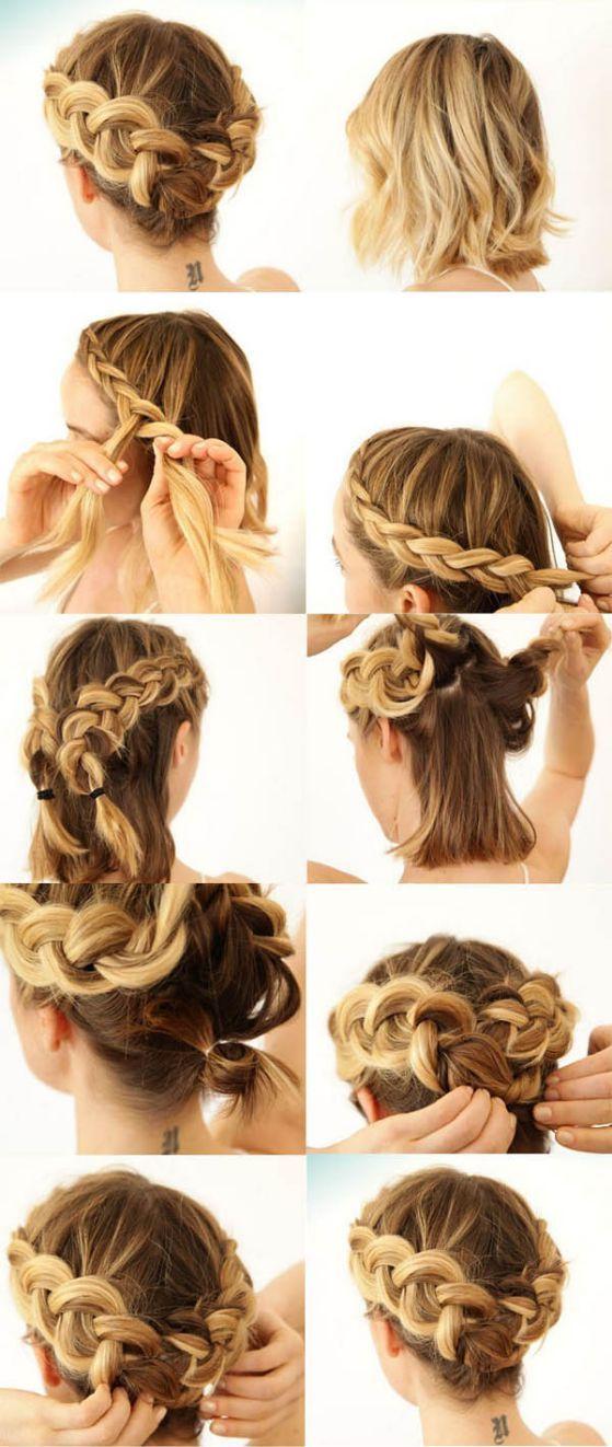 32 Peinados Faciles Y Rapidos Paso A Paso Modelos 2018 Peinados Poco Cabello Peinados Pelo Corto Peinados Cabello Corto