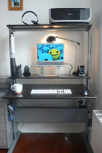 My Desk Glass Desk Office Glass Office Furniture House Rooms