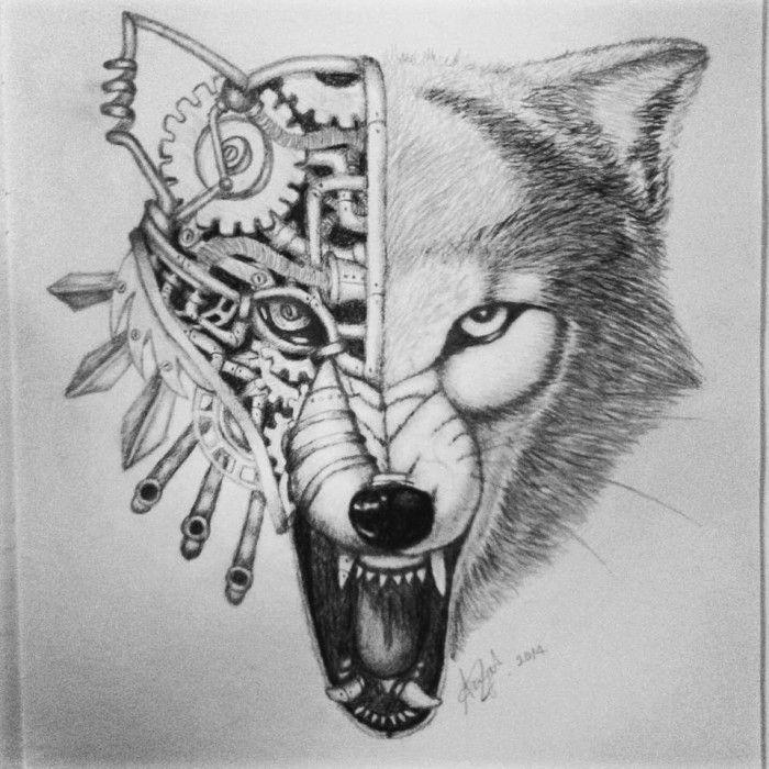 a41472c6f0e9b Steampunk wolves | Steampunk wolf copy | Tattoos | Steampunk artwork ...