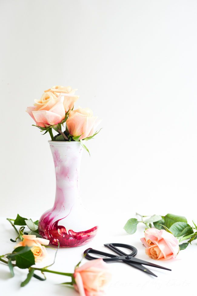 Learn How To Marble A Vase With Nail Polish Cute Pinterest Diy