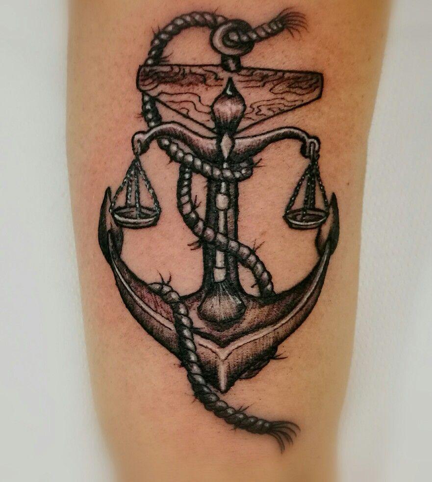 51c19c5a2 Anchor libra tattoo | Michael | Libra tattoo, Zodiac tattoos, Tattoo ...