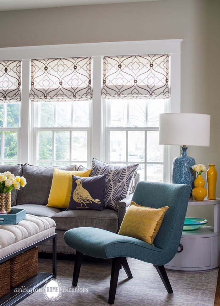 Sunny Family Room by Suzanne Manlove | Arlington Home Interiors