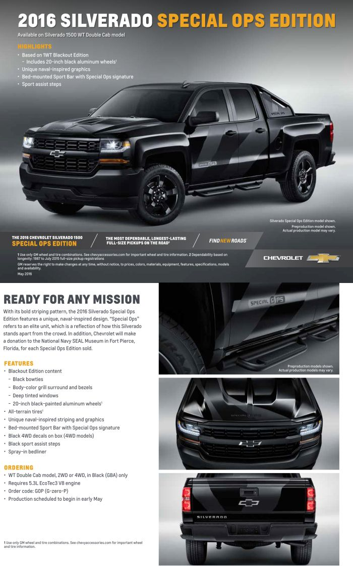 2016 Silverado Special Ops Edition Jeff Gordon Chevrolet