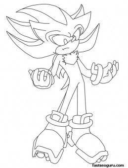 Shadow The Hedgehog Coloring Pages - GetColoringPages.com | 338x259