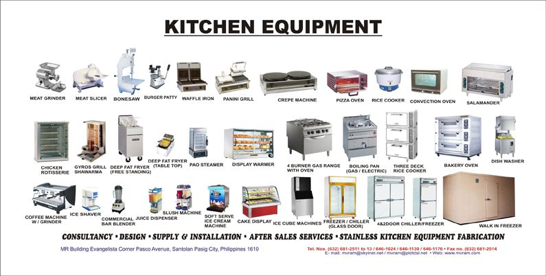 Kitchen Equipment list of small kitchen equipment | home decorating, interior design