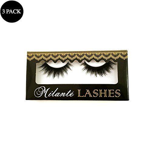 $49.00 Milanté BEAUTY 3 Pack Virtue Real Mink False Lashes Black Natural Thick Long Full Reusable Fake Strip Eyelashes #milantebeauty