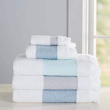 Relaxed Stripe Hand Towel Gray Bath Beauty Bath Towels - Striped bath towels for small bathroom ideas