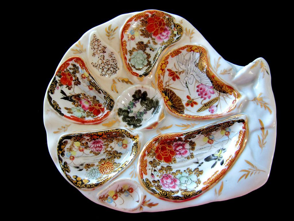 Kutani Handpainted Oyster Plate ~ & Kutani Handpainted Oyster Plate ~ | Glazed u0026 Confused | Pinterest ...