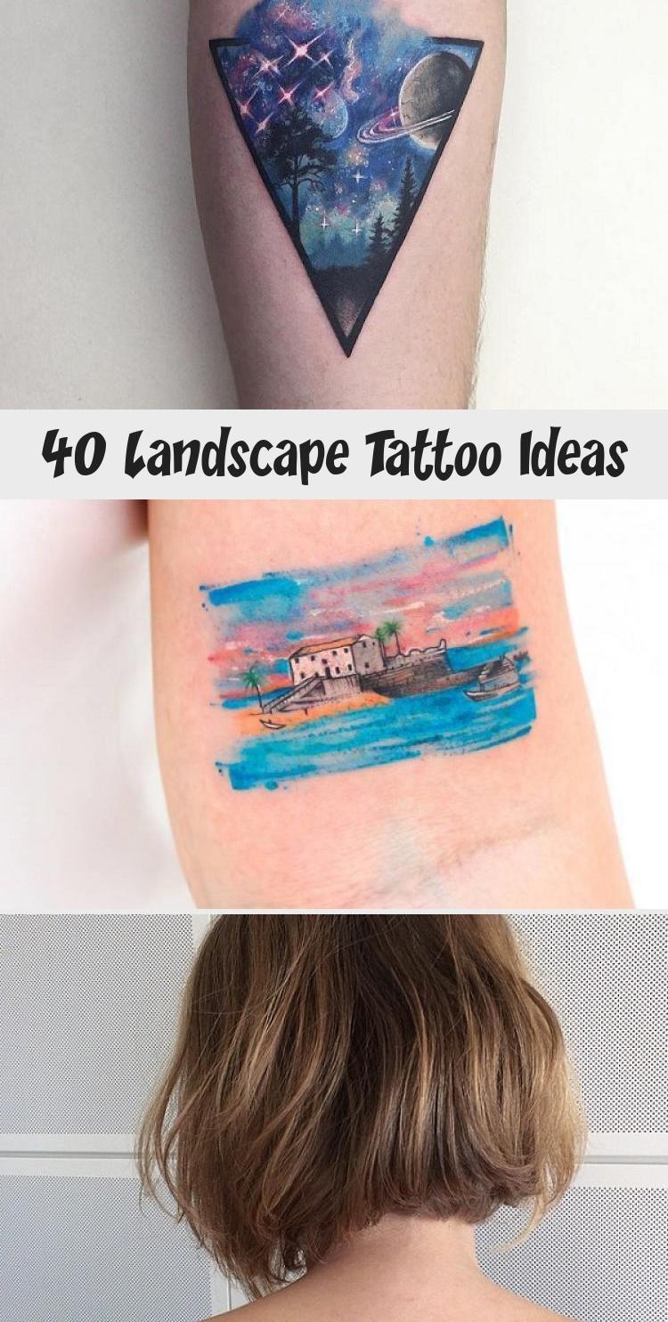 Photo of 40 idées de tatouage de paysage – Tatouages