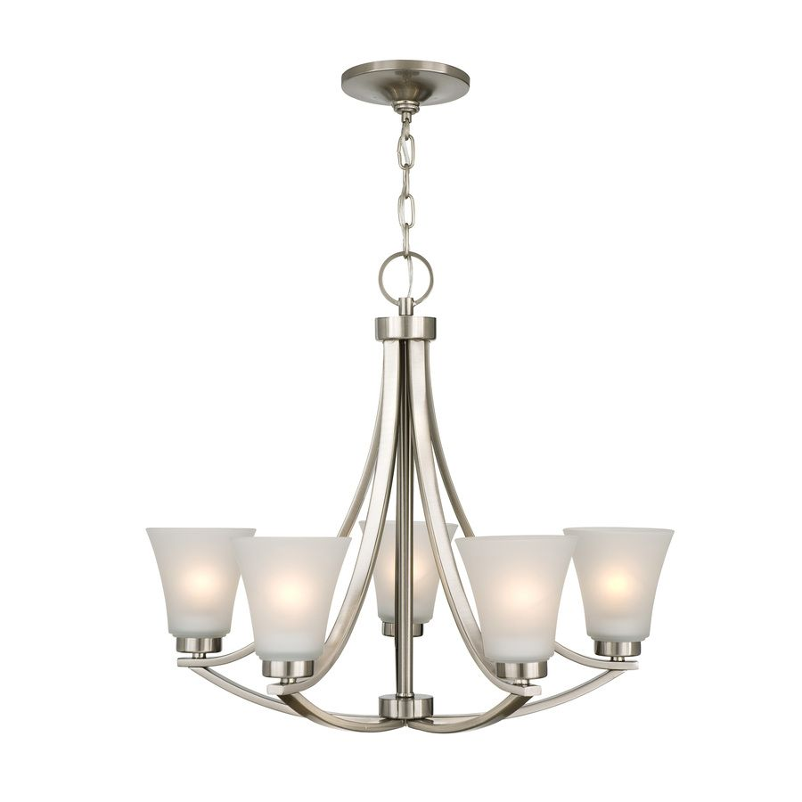 Shop Portfolio Lyndsay 5 Light Brushed Nickel Chandelier At Lowes