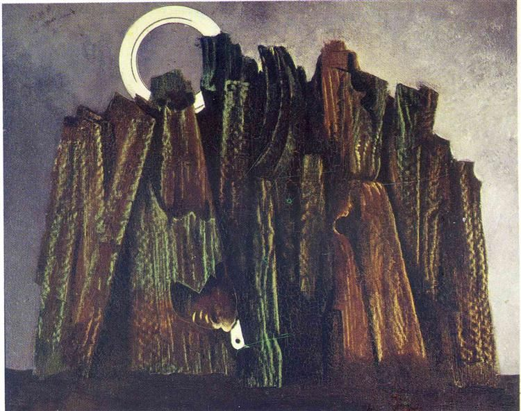 Dark Forest And Bird By Max Ernst Surrealism Landscape Private