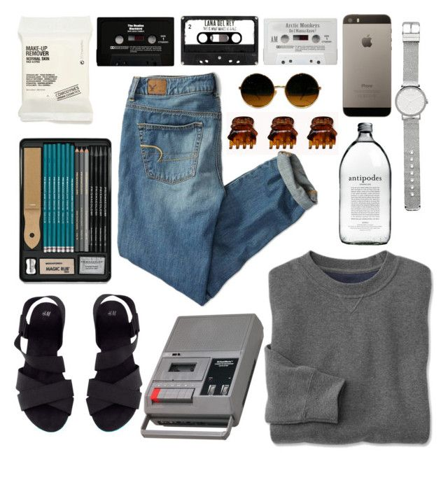 Comfort by sofiajosefina on Polyvore featuring polyvore, fashion, style, American Eagle Outfitters, H&M, Witchery, Forever 21, Comodynes, CASSETTE, clothing, comfort, art, apple and cassette