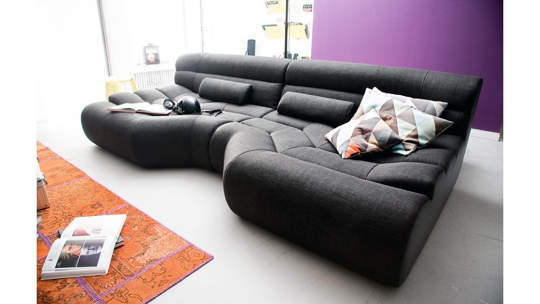 Sofa Bezug elements megasofa bezug in schwarz mit nosagfederung 292 cm