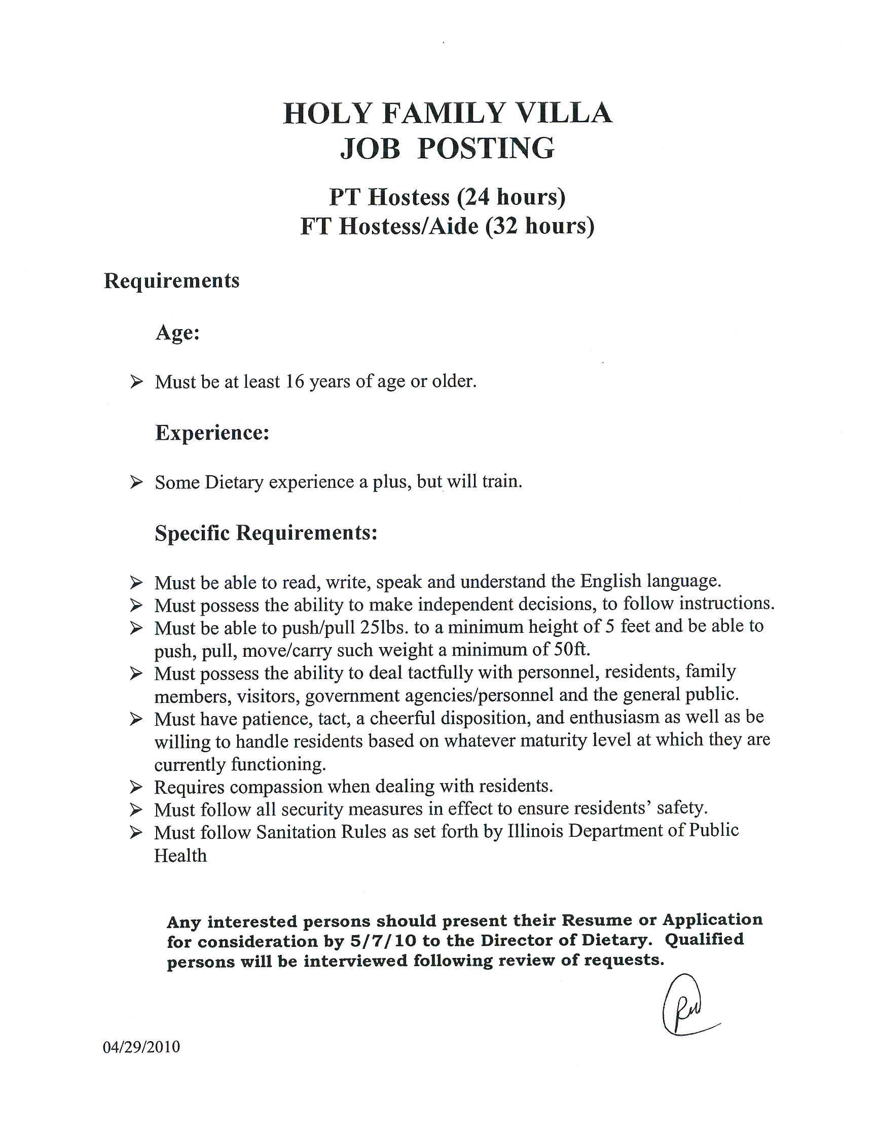 Sample Resume Dietary Aide Position Cook Free Chef Example