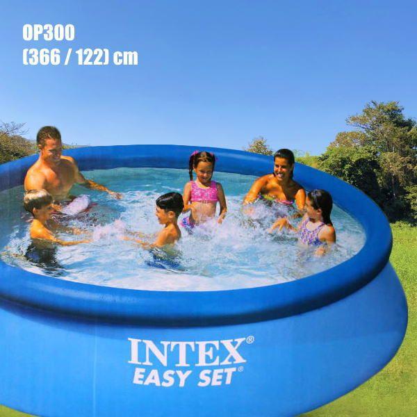 大きい家庭用プール 円形スーパータフプール Op300 プール塩素消毒