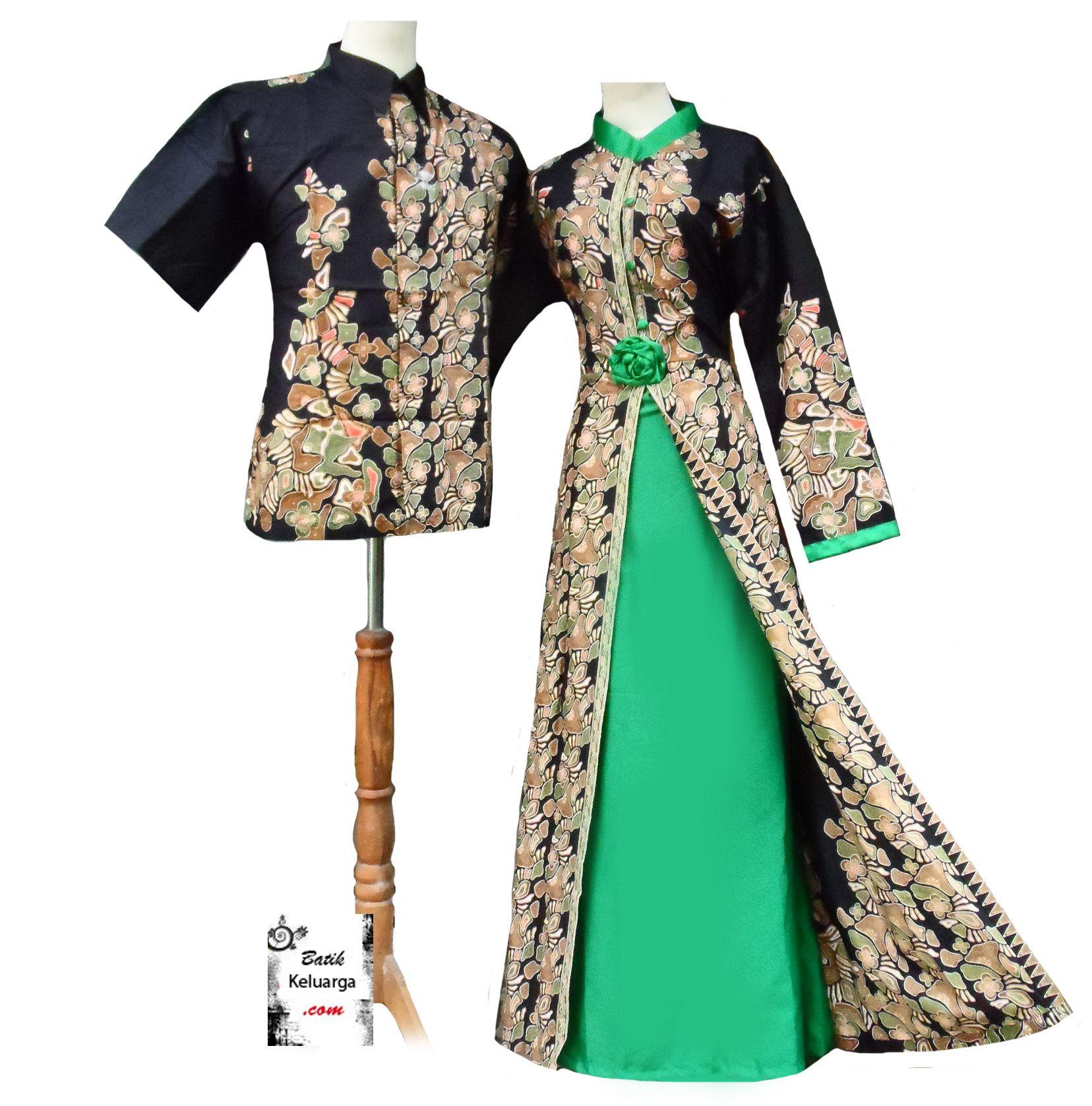 BUSANA PASANGAN TERBARU  BK0295  BATIK KELUARGA  Batik Modern
