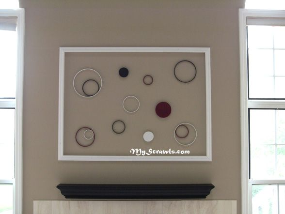 Large inexpensive wall art made from PVC decorative moulding. I ...