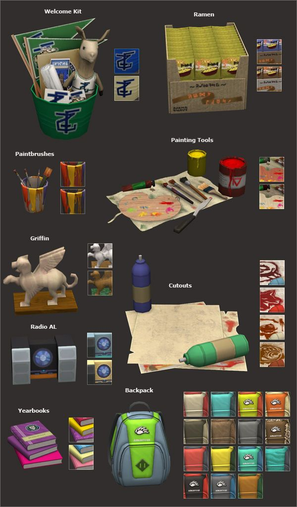 University Life items 3t2 conversion | TS2 Objects | Sims